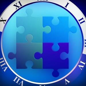 Temps partagé horloge puzzle