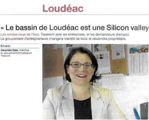 20170120 Ouest-France-Loudeac-Silicon-valley-Tisserent-alexandra-glais