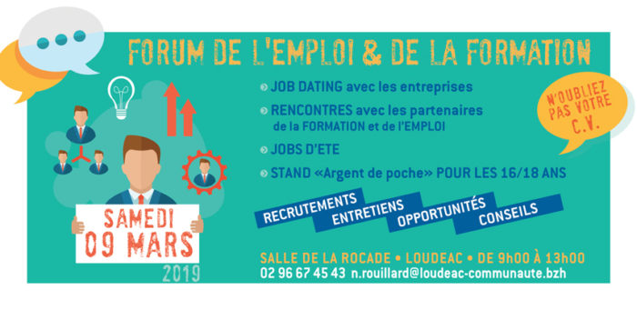Affiche Forum Emploi Loudeac